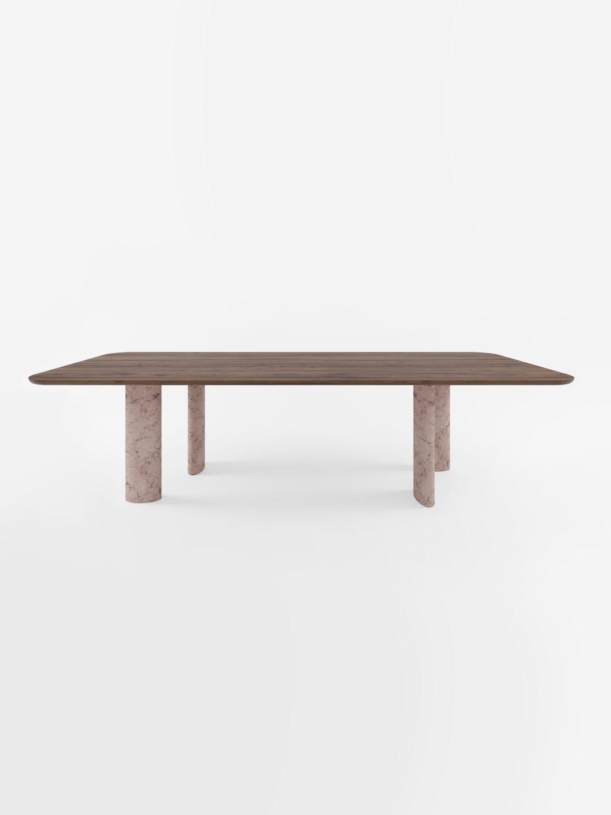 Geo long table sand walnut