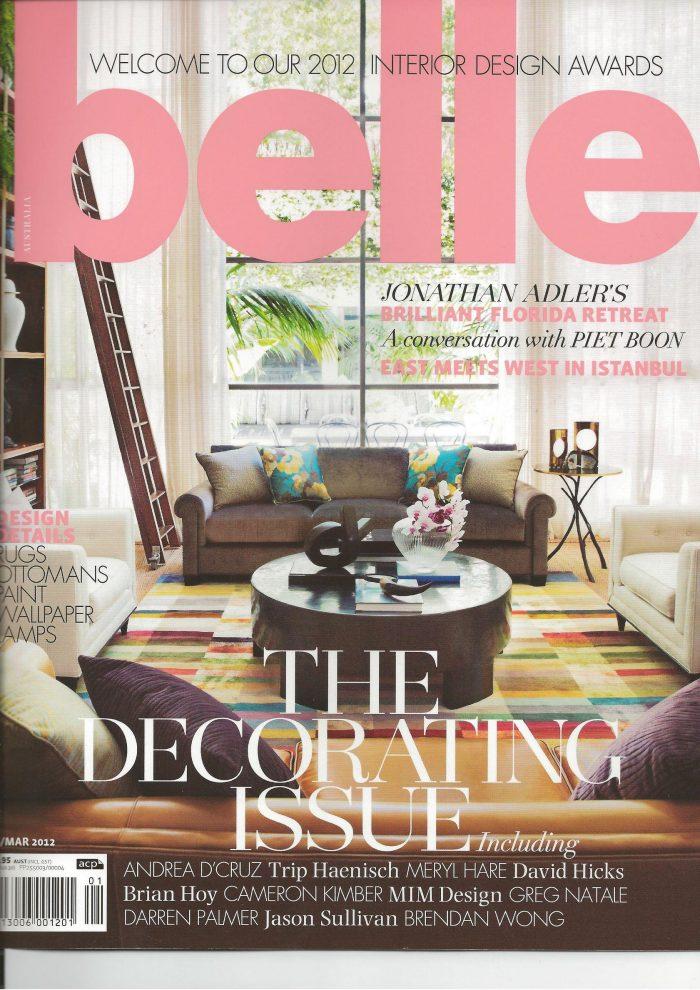 Belle Magazine - Bellevue Hill Residence 01/02/12