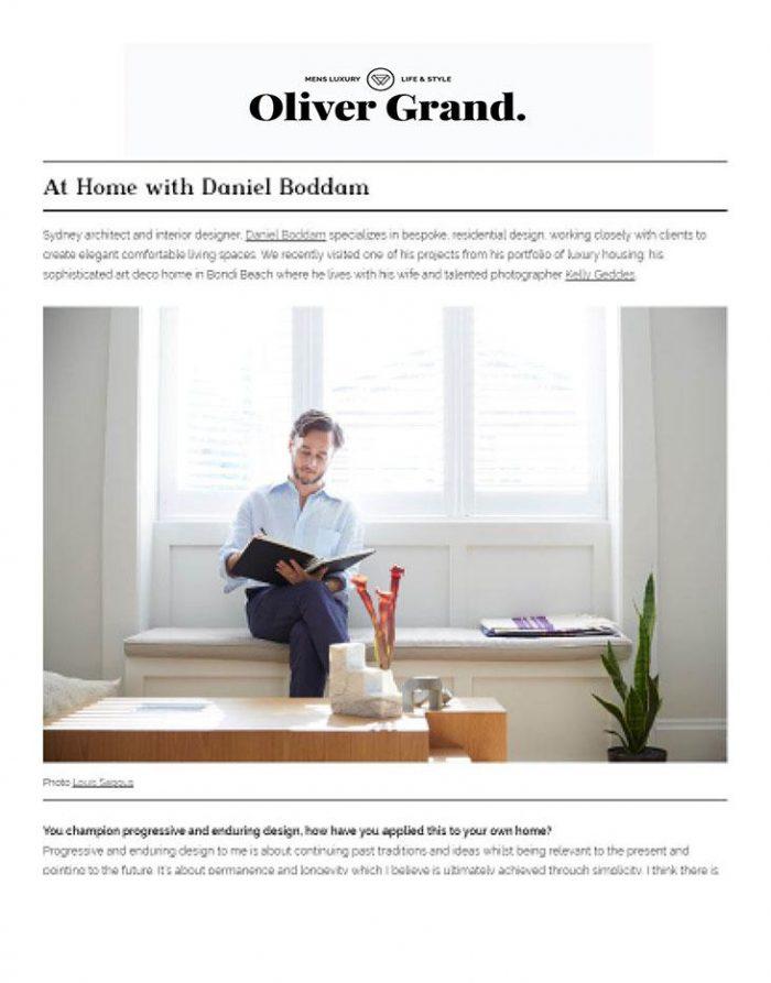 Oliver Grand - Bondi Apartment 31/08/17